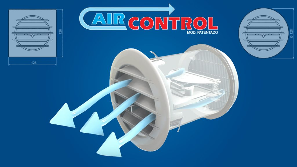 Rejilla con valvula termostatico AIRCONTROL