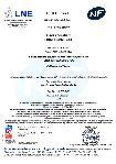 Certificado AFNOR-LNE NF 513 - Me - Resistencia al fuego