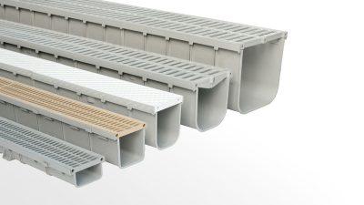 Canaletas con rejilla en PVC